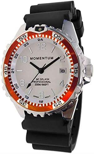Momentum s Unisex M1 Splash Watch 200m 660 ft Water Resistant Rotating Dive Bezle Black Band