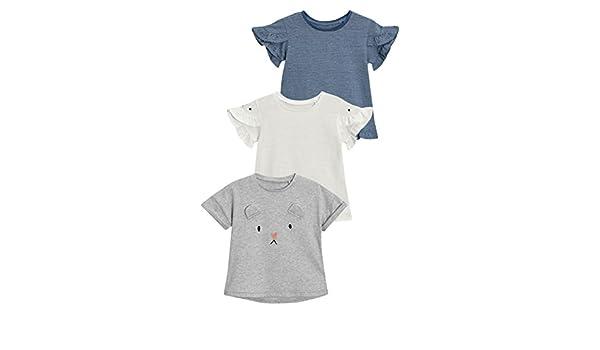 next Niñas Pack De Tres Camisetas (3 Meses - 6 Años) Azul 5-6 años: Amazon.es: Ropa y accesorios