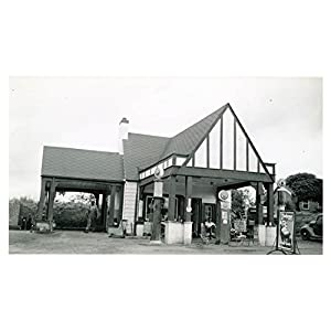 1941 Pure Oil Gas Station Photo Poster Ware Shoals SC Gas Globe
