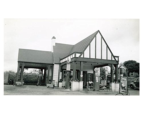 1941 Pure Oil Gas Station Photo Poster Ware Shoals SC Gas Globe from AutoLit