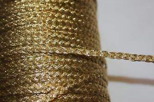 5 Yards Metallic Gold GIMP Braid Braided Craft Sewing Trim 1/4