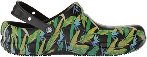 Adulte Noir Clog Crocs Graphic Bistro Sabots Green black parrot Mixte YqAXT