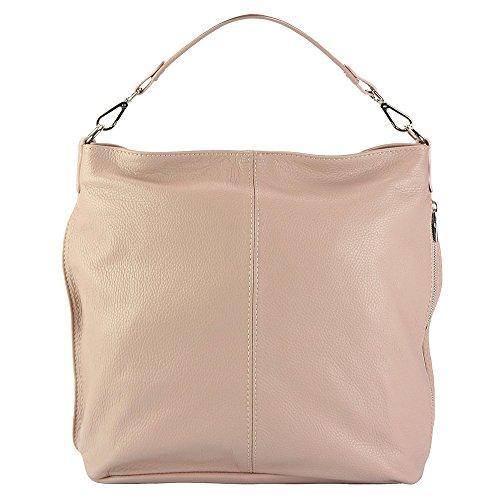 Vitello Pelle Florence Market Leather Comoda 9116 Vera In Di Hobo E Rosa Leggera Borsa Donata a7Hxwaq
