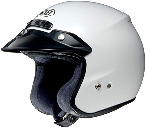 Shoei RJ Platinum-R 3/4 Helmet (MEDIUM) (WHITE)