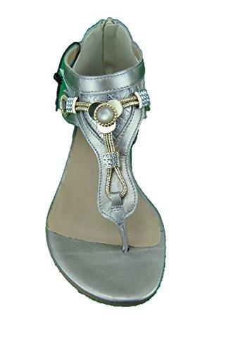 IGI&Co 1179322 Sandalia de Mujer EN Piel laminada Hecha EN Italia