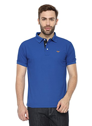 32a25af2d Stellers Solid Men's Royal Blue Polo Neck T-shirt: Amazon.in: Clothing &  Accessories