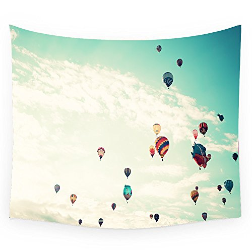 - KingKang Colorful hot air balloons on sky background Tapestry Headboard Wall Art Bedspread Dorm Tapestry,Tapestry Wall Hanging Indian Wall Art (XL-150230cm/60 X 90