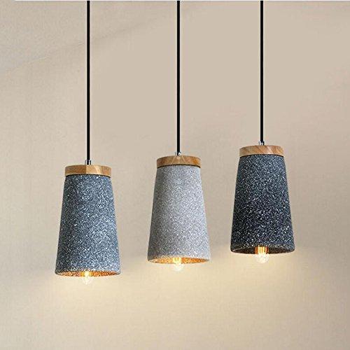 hormigón Cemento yjlight lámpara Deco Modern Madera techo gvmbI6Yf7y