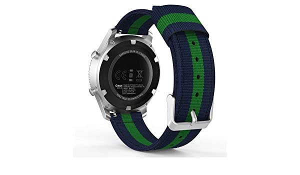 Amazon.com: Jewh Universal Watch Band - Woven Nylon Strap for Samsung Gear S2 - Classic/Motorola Moto 360 2nd Gen Mens 42mm/Garmin Vivomove - Garmin Fenix ...