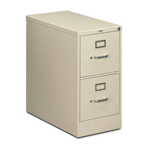 """HON 210 Series Locking Vertical Filing Cabinets-Letter File, 2 Drawer, 15""""Wx28-1/2""""Dx29""""H, Putty"""