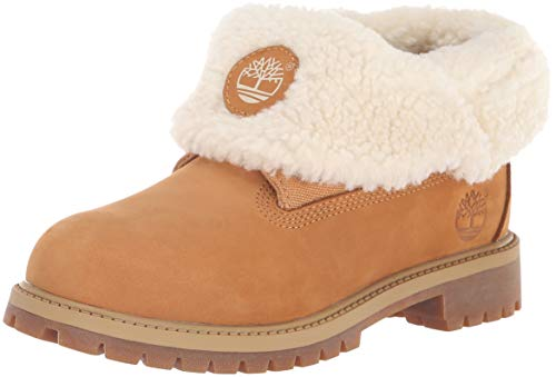 Timberland Baby Icon Collection Roll-top with Fleece Fashion Boot, Wheat Nubuck, 5 Medium US Toddler (Timberland Infant Boots)