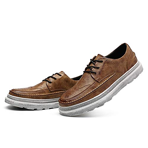 Color Brogue Uomo Affari Scarpe Nuovi Outsole Impermeabili aumentate Vintage Solid da Casual Marrone New da Oxford Scarpe Fashion Cricket 8wFn7dFEq