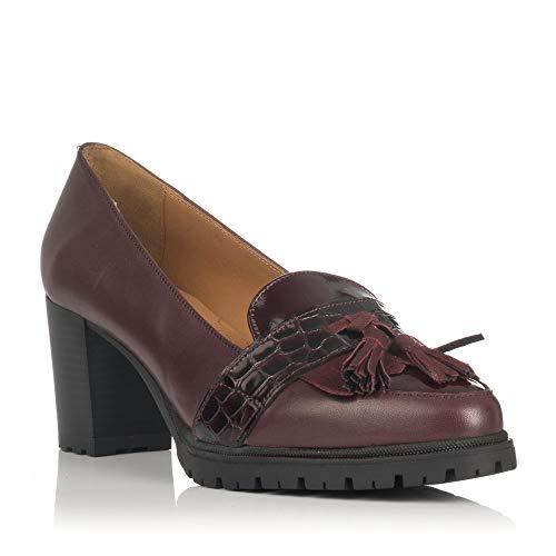 126 Burdeos De 1198 Zapatos Rojo Modabella Tacón IdawExC
