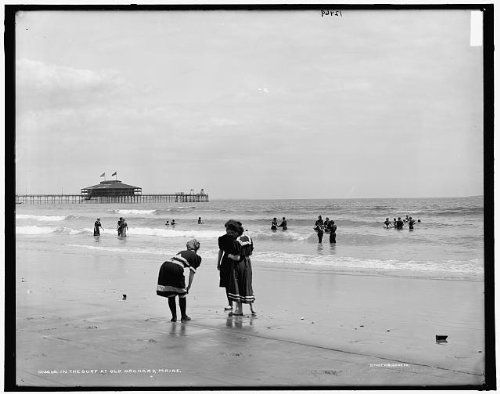 Photo: Surf,swimmers,bathing suits,waves,piers,wharves,docks,Old - Shops At Orchard Old