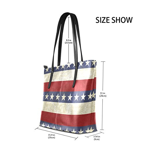 And Stars Bags Totes Purses Shoulder Leather PU Top Women's Stripes Fashion Vintage Handle TIZORAX Handbag AEwtFF
