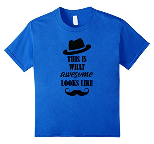 Kids This Is What Awesome Looks Like, Handlebar Mustache T-shirt 6 Royal (Handlebar Mustache With Beard)