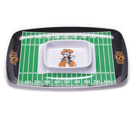 NCAA Oklahoma State Cowboys Melamine Chip and Dip Tray
