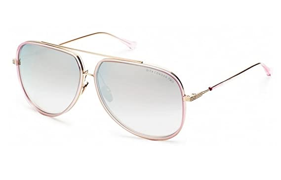 5b75d27c16bf Amazon.com  Dita Condor Two Pink   12K Gold Frame Sunglasses  Clothing