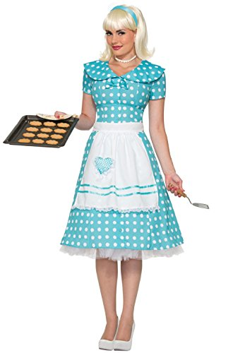 1950's Fifties Good Housewife Adult Costume (M/L) - Adult 50s Housewife Costumes