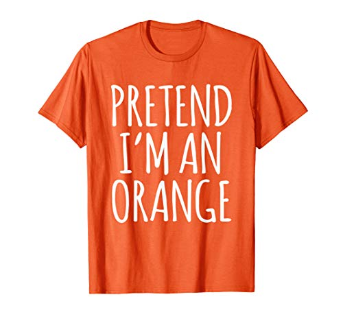 Lazy Funny Halloween Costume Shirt - Orange Fruit Gift Shirt]()