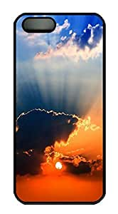 iPhone 5 5S Case Landscapes sunset 3 PC Custom iPhone 5 5S Case Cover Black