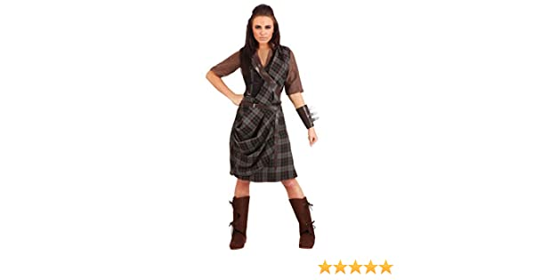 Womens Braveheart Warrior Fancy Dress Costume X-Large: Amazon.es ...