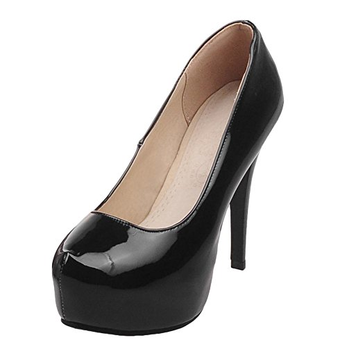 Charm Foot Womens Elegant Dress High Heel Pumps Shoes Black bLDmwQAAV