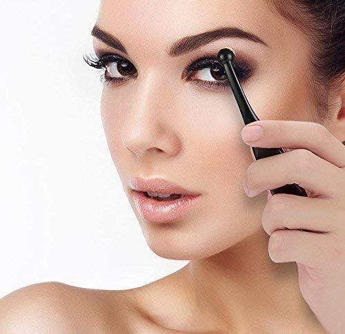 Juegos de Brocha de Maquillaje, YierColor 5 Cepillos Ovales Faciales de Maquillaje para Polvo, Base de Maquillaje, Blush, Contorno de Nariz Concealer.