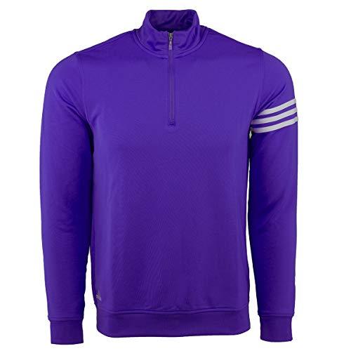 adidas Men's Climalite 3-Stripe 1/4 Zip, Blue Bonnet/White, ()