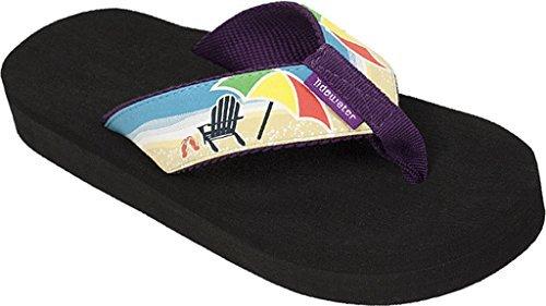 Tidewater Womens Beach Chair Sandals Pastel Purple   Tan   Yellow 6