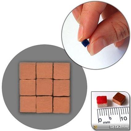 mosaico de Minis (5 x 5 x 3 mm), 500 unidades, ladrillo rojo (sin acabar), RN01 500unidades ALEA Mosaik