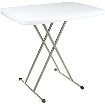 Merveilleux Adjustable Folding Table   20 X 30 Inches   For Indoor And Outdoor Use,  White