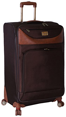 Caribbean Joe 20 Inch 8 Wheel Spinner Carry-On, Chocolate Brown, One - Brown Luggage