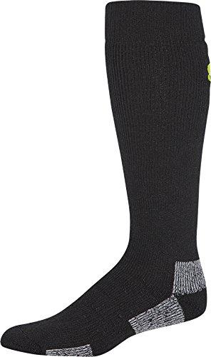 756d2eadf Under Armour Men's Scent Control II OTC Socks, Black/Velocity Green, Large