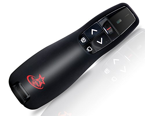 Red Star Tec Wireless Powerpoint and Keynote Presentation Remote Clicker PR-819 (Black, 1 ()