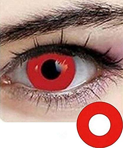 Cosplay Eyes Multi-Color Contact Lenses Cosplay Eyes Cute Colored Charm and Attractive Blends Cosmetic Makeup Eye Shadow - Red Lenses For Halloween Contact