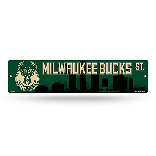 fan products of NBA Milwaukee Bucks High-Res Plastic Street Sign