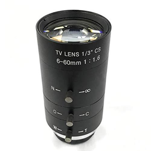 - Liobaba CCTV Video Lens Manual IRIS Zoom 6-60mm CS Mount Lens for Industrial Microscope Varifocal CCTV Lens Surveillance Camera Lens
