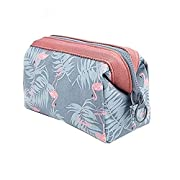 Makeup Bag Travel Cosmetic Bags Toiletry Wash Bag Portable Travel Makeup Case Pouch for Women Girls (Flamingo)