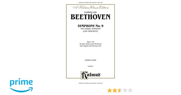 Symphony No  9 (Choral Movement): SATB with SATB or B Soli