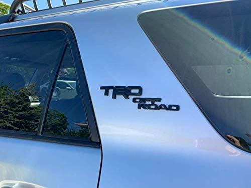 Carstore 3D Letters Black TRD Off Road Badge Decal Sticker Nameplate Fender Side Emblem Fit for 2010-2019 4Runner