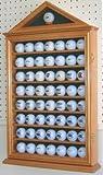 57 Golf Ball Display Case Cabinet, Novelty Gift, OAK Finish