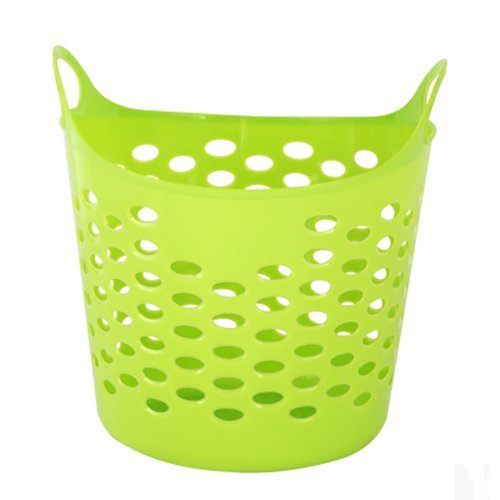 AUCH Protable Large Size Plastic Clothing/Toy/Fruit and Vegetable Storage basket / Storage Box/Drawer/ Organizer with Handle - Flexible Plastic Basket