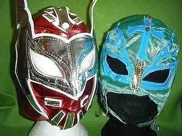 SOPHZZZZ TOY SHOP Rojo Sin Cara Verde Rey Mysterio Lucha Libre Disfraz Disfraz Máscaras infantil máscara