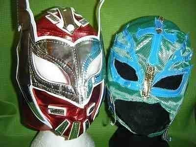 SOPHZZZZ TOY SHOP Red Sin Cara Green Rey Mysterio Wrestling Fancy Dress Up Costume Outfit Masks For Children Mask Ray Mexican Party Boys Kids Series WWF Tna Ecw Dx Super Hero