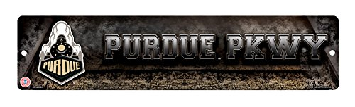 NCAA Purdue Boilermakers 16-Inch Plastic Street Sign Décor