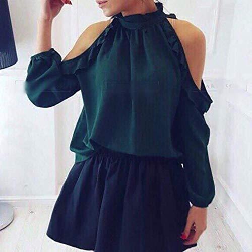 V Manches Chemisier shirt Longues Col Et T En Femmes Courtes Pour À Fuxitoggo 4vExCdqq