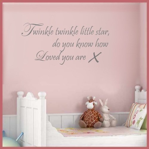 Twinkle Twinkle Little Star Wall Stickers, Childrens Wall Quote ...