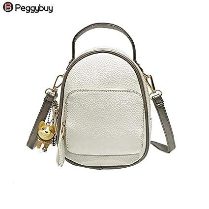 22e39f8d18ed Amazon.com: DingXiong 2018 Cute Backpack Female Zipper Shoulder Bag ...