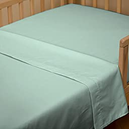 Carousel Designs Solid Mint Toddler Bed Sheet Top Flat